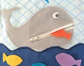 Zipper Whale Quiet Book Page PDF Pattern | PDF | Quiet Book | Felt Busy Book | Toddler book | Activity Book | Fabric quiet book