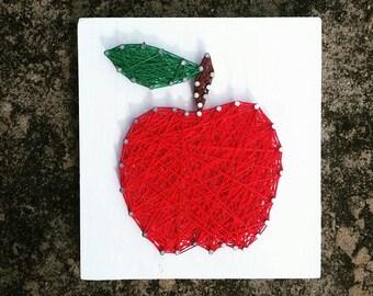 Mini Apple String Art, Teachers gift, end of the year teacher's gift, teacher apple