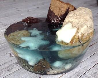 Personal Tidal Pool, resin sculpture, resin art,