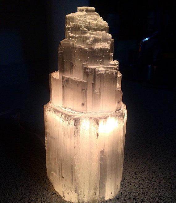 Selenite Lamp Selenite Stone Raw Selenite Tower 8