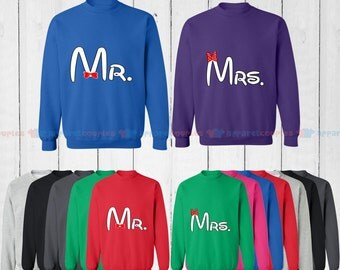 Mr. & Mrs. - Matching Couple Sweatshirt - His and Her Sweatshirts - Love Sweaters