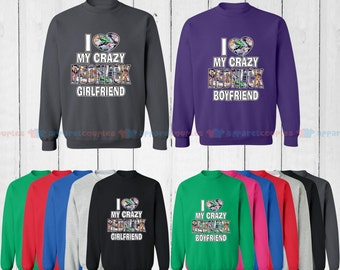 I Love My Redneck Girlfriend & I Love My Redneck Boyfriend - Matching Couple Sweatshirt - His and Her Sweatshirts - Love Sweaters