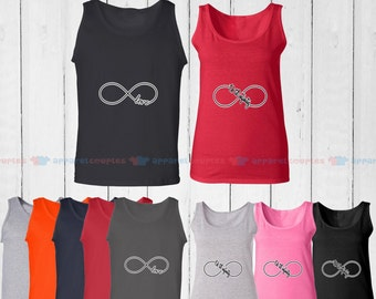 Infinite Love - Matching Couple Tank Top - His and Her Tank Tops - Love Tank Tops