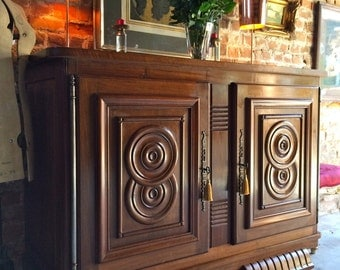 Antique Art Deco Style Sideboard Credenza Dresser Early 20th Century