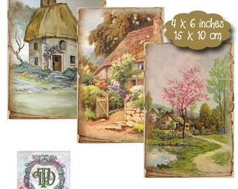 12 Storybook Cottage Tags