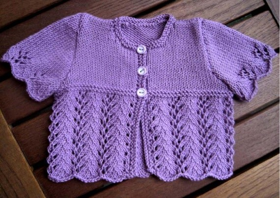 Baby girl Cardigan Knitting Pattern - Instant Download PDF ...