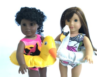 Pretend fun pool floaties for American Girl and other similar sized dolls