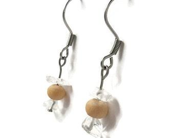 Bohemian earrings clear quartz rock crystal jewelry bohemian jewelry healing clear crystal rock crystal earring healing crystal earring awin