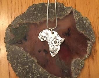 Africa Fine Silver Pendant