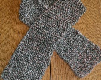 Knitted Prairie Homespun Yarn Scarf