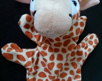 Giraffe hand puppet, imagination, toys, toddler