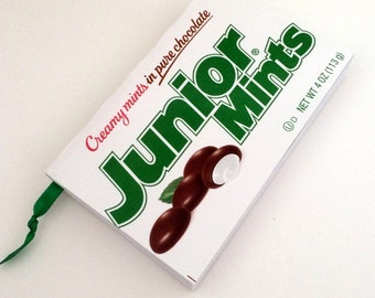 Junior Mints Recycled Candy Box Journal / Upcycled Candy Box Notebook / Journal