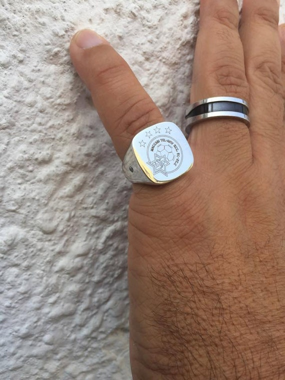 Square signet ring signet rings Pinky ring mens signet