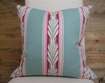 Art Deco Aqua Fuchsia Pillow Cover