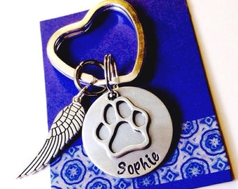 Remembrance Pet keychain, Pet Memorial keychain, Pet Remembrance Gift, Pet Loss, In Memory of Gift