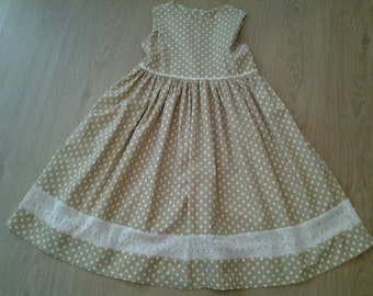 Lovely Girls Polka Dot Dress Age 6