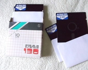 "Vintage Antique Floppy Disk 5.25"" Diskette five-inch Rare Old Computer Soviet made in USSR 1980's Collectible New"