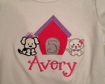 Puppy and Kitten Birthday Shirt