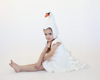 Halloween Swan costume,  girl costume, Girls white swan, Girls Halloween costume, handmade costume,  Halloween costume children girl