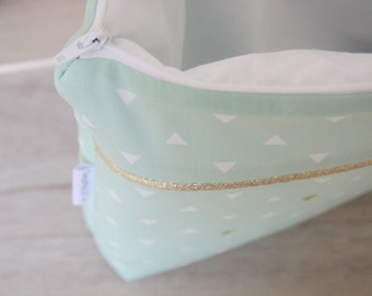 Great make-up bag baby, child or adult, Collection Mint
