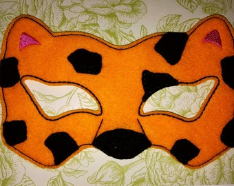 LEOPARD MASK ITH Embroidery design Project In the Hoop Costume, Cosplay, Fancy dress, Masquerade, Photo booth, Prop.
