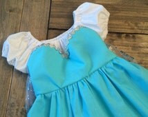 Girls Frozen Elsa Dress, Princess Dress, Elsa Costume