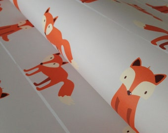 Removable Wallpaper, Fox wallpaper, Fox Print, wallpaper, Nursery wallpaper, Kids wallpaper, Peel and stick wallpaper, baby wallpaper