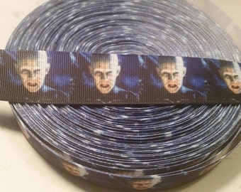 Horror ribbon, Horror grosgrain ribbon, Hellraiser ribbon