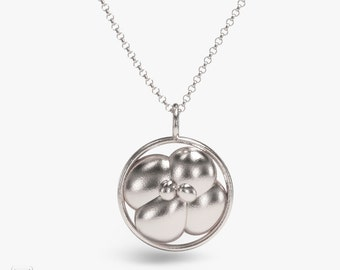 science jewelry: 4 cell embryo silver necklace - 3D printed embryo - development