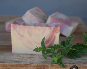 Peppermint Goat Milk Soap, All Natural Goat Milk Soap