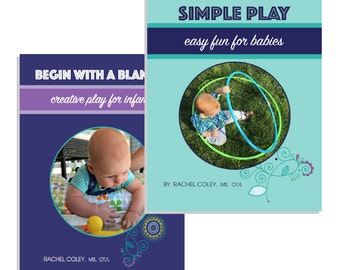 2 Book Set - Begin With A Blanket & Simple Play - baby play activity book, new mom gift, baby shower gift, parenting, learning activities