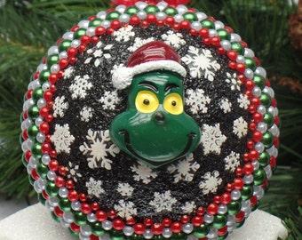 The Grinch Snowglobe Christmas Ornament