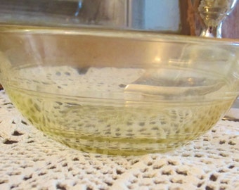 Duralex Yellow Glass Bowls Made in France