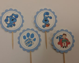 Blue's Clues cupcake toppers
