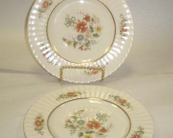 "Lot of 2 Lenox Temple Blossom 8-1/2"" Salad Plates"