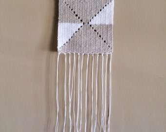 Small Oatmeal & White Wall Hanging