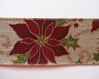 Poinsettia Wired Ribbon