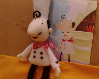 Plush toy just like Chef George from Hungry Henry HANDMADE