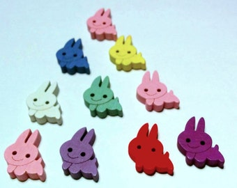 10 Little Bunny Buttons