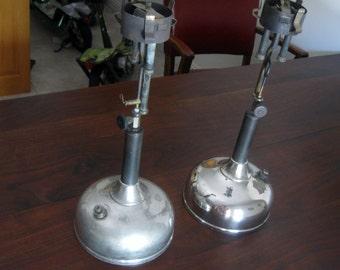 2 Vintage 1910 Coleman CQ Lamp bases + 1918 Vintage Coleman Lamp Ad