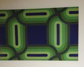 "c1960 Marimekko Fabric On Stretcher Design TeampellaFinland 50"" x 30"" *Shipping is NOT Included. Contact us for a quote. ---"