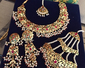 Multi gold haydrabadi full set