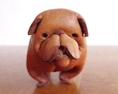 Deru Germany Folded Leather Bulldog Figurine