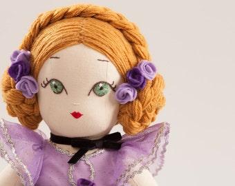 Ballerina Nina - Handmade Cloth Doll