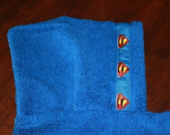 Superman Hooded Towel, Blue - For babies, toddlers, preschoolers and beyond!