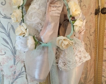 Shabby Worn Vintage Pointe Shoes