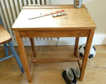 Genuine refurbished vintage school desk