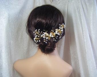 Bridal hair vine headband