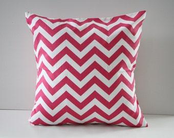Decorative Pillow Cover, Pillow Sham, Hot Pink Pillow Sham, 18x18, Home Decor, Throw Pillow