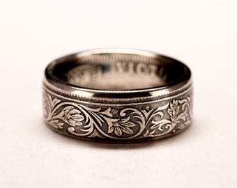 British India One Rupee Coin Ring - Victoria 1877-1901